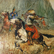 BERNINGHAUS: The Pursuit of Geronimo by the Cavalry, 1900