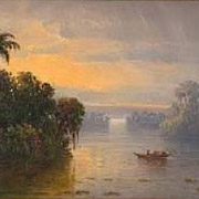 BUSH: Man on the Tropical River, 1878