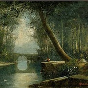 DUNCANSON: Woodland Stream, An Idyll By the Bridge,
