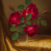 HEADE: Red Roses in a Crystal Goblet, c. 1883-1900