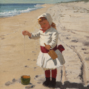 BROWN: Playing in the Sand at South Hampton Beach, 1879-1880
