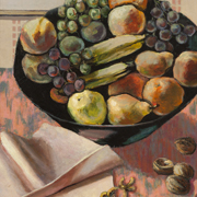 MacDONALD-WRIGHT: Still Life with Fruit and Nuts, circa 1940-45