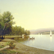 SUYDAM: The Hudson River, Looking North from Below Inoodna Creek, 1872